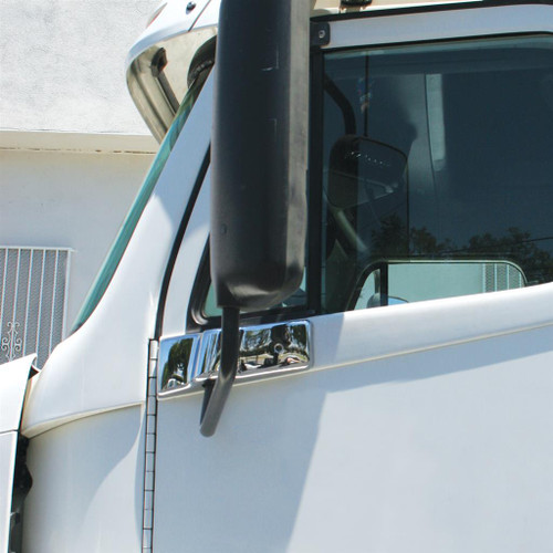 1996-2010 Freightliner Century Chrome Plastic Bottom Mirror Post Cover