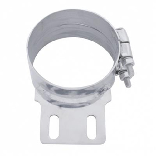 """6""""/7""""/8"""" Stainless Steel Butt Joint Exhaust Clamp Straight or Angled Bracket"""