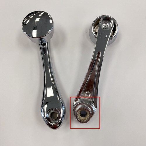 Plain Window Crank With Square or Slot Adapter