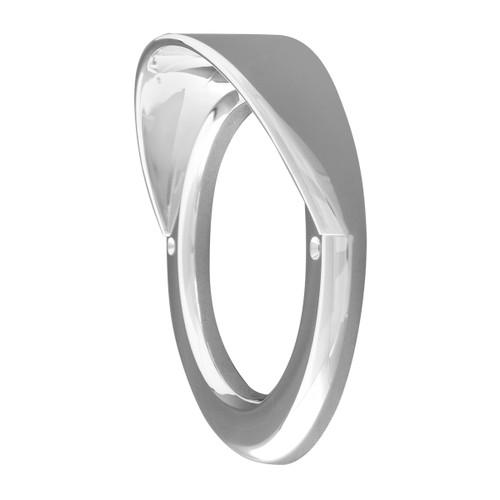 "2""/2.5""/4"" Round or Oval Chrome Plastic Screw on Style Light Bezel"