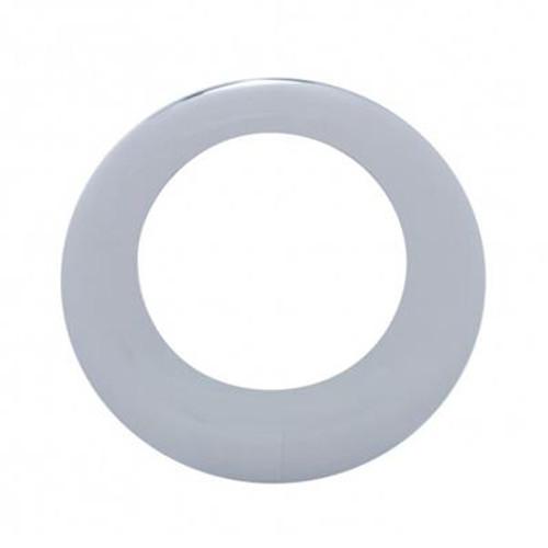 "2""/2.5""/4"" Round or Oval Chrome Plastic Twist on Style Light Bezel"