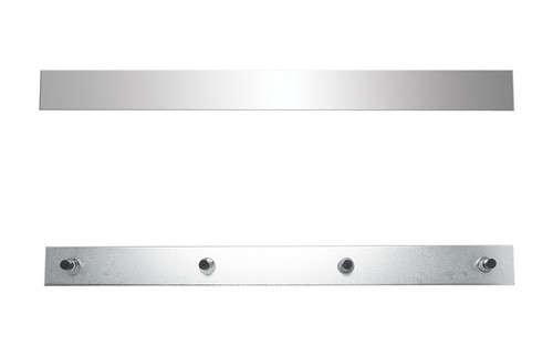 """2"""" X 24"""" Bolt Thru or Welded Stud Stainless Top Mud Flap Plate"""