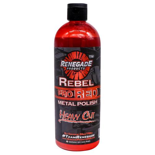 "24oz or 1 Gallon Rebel Pro Red ""Heavy Cut"" Liquid Metal Polish"