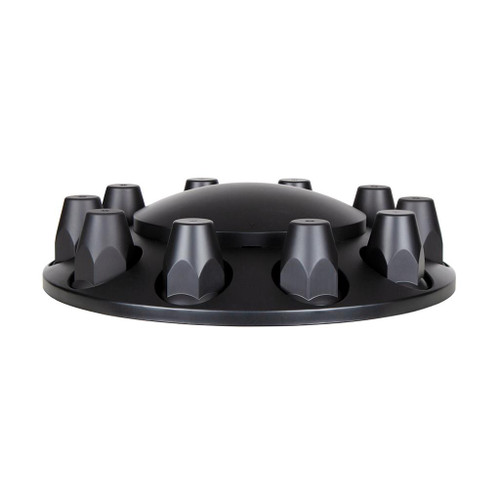 Chrome or Matte Black Dome Front Axle Cover With 33mm Thread on Nut Cover