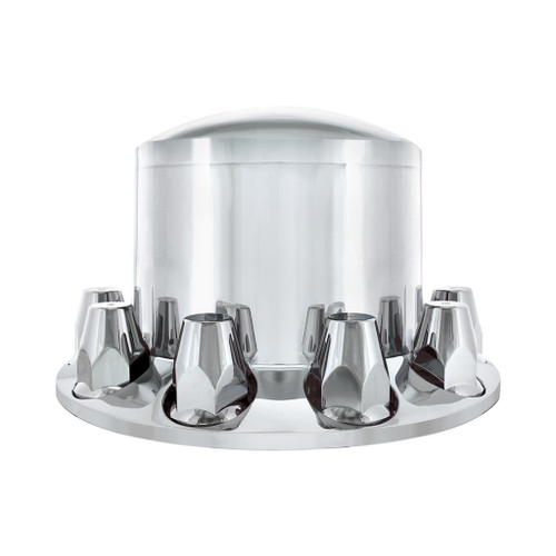 Chrome or Matte Black Dome Rear Axle Cover With 33mm Thread on Nut Cover