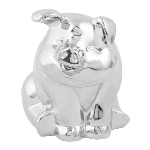 Chrome or Black Smiling Pig Hood Ornament