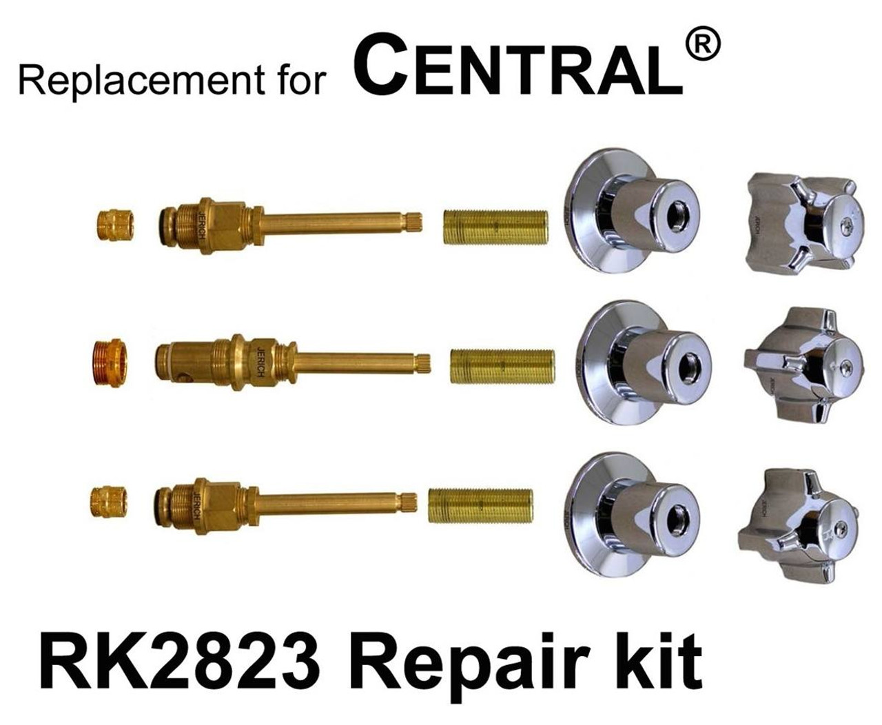 For Central Brass Rk2823 3 Valve Rebuild Kit