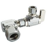 Skirted toilet valves