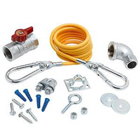 """T&S Brass AG-KD Gas Appliance Connectors, Installation Kit with 3/4"""" Elbow"""