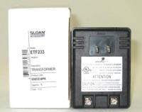 SLOAN ETF233 TRANSFORMER PLUG TYPE 120V/35VA 0365534PK