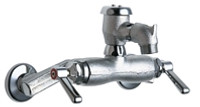 """Chicago Faucets 305-VBRRCF Wall-Mounted Manual Sink Faucet with 3-3/8"""" Centers"""