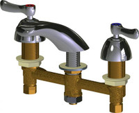 """Chicago Faucets 404-VABCP Deck-Mounted Manual Sink Faucet with 8"""" Centers"""