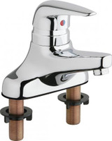 """Chicago Faucets 420-ABCP Deck-Mounted Manual Sink Faucet with 4"""" Centers"""