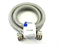 Nbwmh5 - 5 Ft. Stainless Steel Braided Flexible Washing Machine Hose