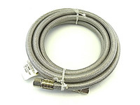 Nb96-1/4 - 96 In. Stainless Steel Braided Flexible Icemaker Supply Line