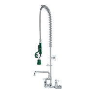 """Krowne 17-109WL - Royal Series 8"""" Center Wall Mount  Pre-Rinse with Add-On Faucet, 12"""" Spout, Low Le"""