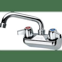 """Krowne 10-406L - Commercial Series 4"""" Center Wall Mount Faucet, 6"""" Spout, Low Lead"""