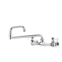 "Krowne 12-824L - Commercial Series 8"" Center Wall Mount Faucet, 24"" Jointed Spout, Low Lead"