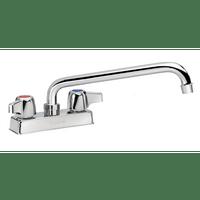 """Krowne 11-412L - Commercial Series 4"""" Center Deck Mount Faucet, 12"""" Spout, Low Lead"""