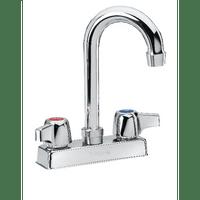 """Krowne 11-400L - Commercial Series 4"""" Center Deck Mount Faucet, 3-1/2"""" Gooseneck Spout, Low Lead"""