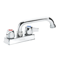 """Krowne 11-450L - Commercial Series 4"""" Center Deck Mount Laundry Faucet, 6"""" Spout with Hose Adapter"""