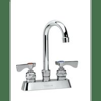 """Krowne 15-301L - Royal Series 4"""" Center Deck Mount Faucet, 6"""" Gooseneck Spout, Low Lead"""