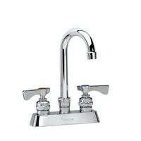 """Krowne 15-302L - Royal Series 4"""" Center Deck Mount Faucet, 8-1/2"""" Gooseneck Spout, Low Lead"""