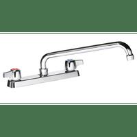 """Krowne 13-808L - Commercial Series 8"""" Center Deck Mount Faucet, 8"""" Spout, Low Lead"""