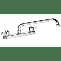 """Krowne 13-812L - Commercial Series 8"""" Center Deck Mount Faucet, 12"""" Spout, Low Lead"""