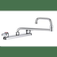 """Krowne 13-818L - Commercial Series 8"""" Center Deck Mount Faucet, 18"""" Jointed Spout, Low Lead"""