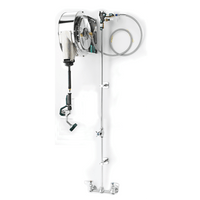 """Krowne 24-502 - Hose Reel Assembly, Enclosed Stainless Steel, 8"""" Center Faucet"""