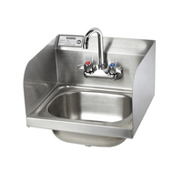 "Krowne HS-26L - 16"" Hand Sink with Side Splashes, Low Lead Compliant"