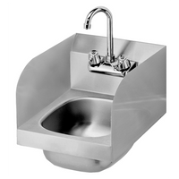 "Krowne HS-30L - 12"" Wide Space Saver Hand Sink with Side Splashes, Low Lead Compliant"