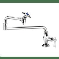 """Krowne 16-162L - Royal Series Deck Mount Pot Filler Faucet, 18"""" Jointed Spout, Low Lead"""