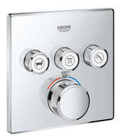 Grohe 29142000 Grohtherm SmartControl Triple Function Thermostatic Trim with Control Module