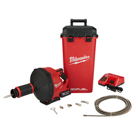 Milwaukee Tool 2772B-21XC M12 M18 FUEL Drain Snake With Cable Drive Kit