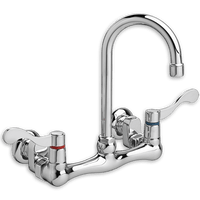 American Standard 7293172h.002 Wall-Mount Gooseneck Faucet W/Offset Shanks