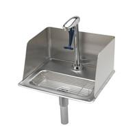 T&S Brass B-1235 Glass Filler Water Station, Pedestal Glass Filler, Drip Pan with Splash Guard