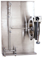 T&S Brass B-1436 Stainless Steel Hose Reel With Backplate