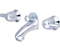 Central Brass 1178-Da Two Handle Slant Back Lavatory Faucet, Chrome