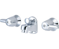 Central Brass 1177-Da Two Handle Shelf Back Faucet, Chrome