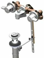 "Union Brass 170 Comp. Valves Metal Handles 4.75"" - 6 5/8"" With Pop-Up"