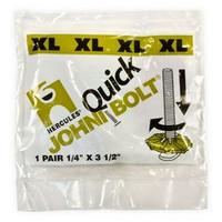 """Hercules 90-906 Johni Quick Bolts Xl Xtra-Long Toilet Bolt - 1/4"""" X 3 1/2"""""""