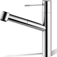 Kwc 10.151.033.000 Ono Single Lever Pull-Out Kitchen Faucet, Chrome