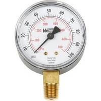 "Weiss Instruments Trade Line Tl35-015-4l 1/4"" Male 0-15 Psi 3.5"" Round Pressure Gauge"