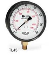 "Weiss Instruments Trade Line Tl45-015-4l 1/4"" Male 0-015 Psi 4.5"" Round Pressure Gauge"