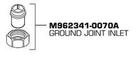 American Standard M962341-0070a Ground Joint Inlet