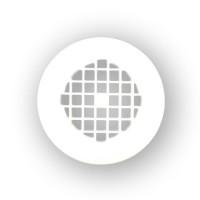 Mustee 42.322 Strainer - Molded Plastic - White