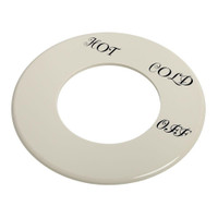 American Standard 923005-0070a Dial Plate Hamp-Hot Cold Off-Dorc- White
