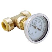 "Probite Lf926t 3/4"" Temperature Gauge Tee-""push Connect"""